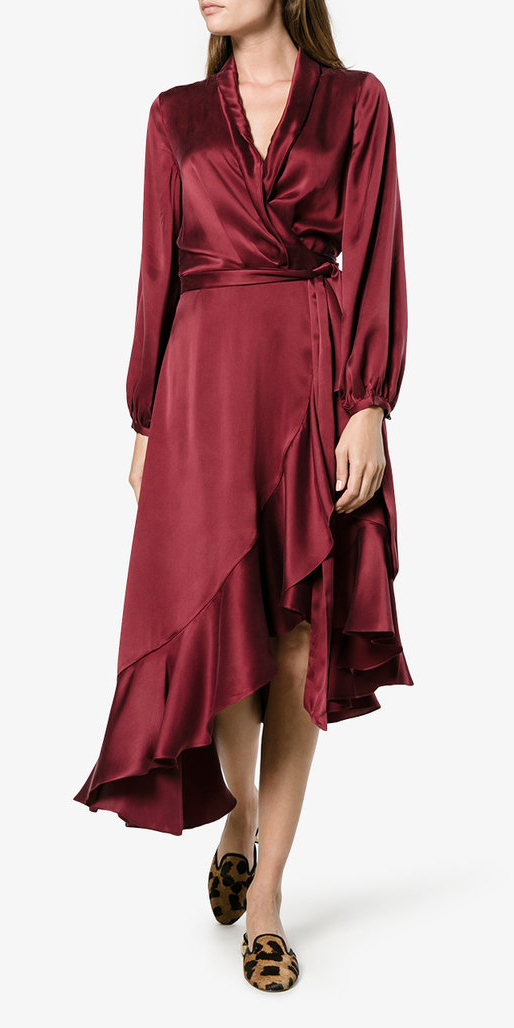 Burgundy Wrap Dresses Howtowear Fashion