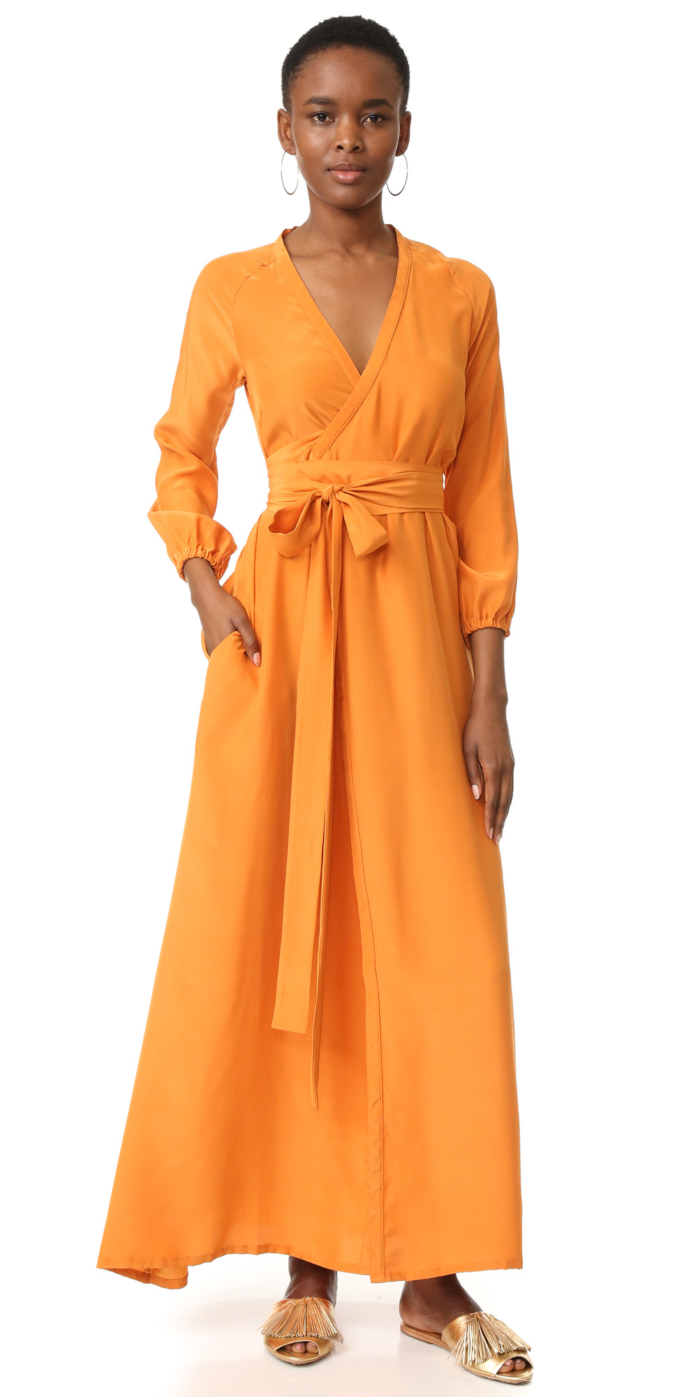 orange-dress-wrap-maxi-tan-shoe-sandals-hoops-brun-spring-summer-weekend.jpg