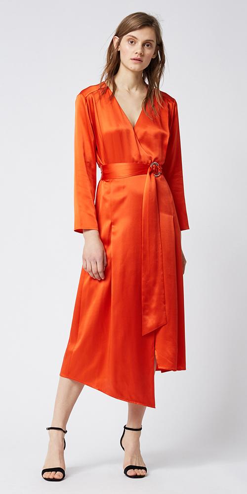 orange-dress-wrap-black-shoe-sandalh-hairr-spring-summer-dinner.jpg