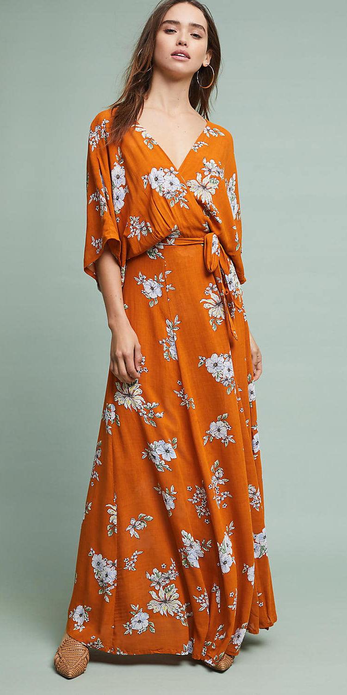 orange-dress-maxi-wrap-print-floral-hoops-hairr-cognac-shoe-flats-spring-summer-lunch.jpg