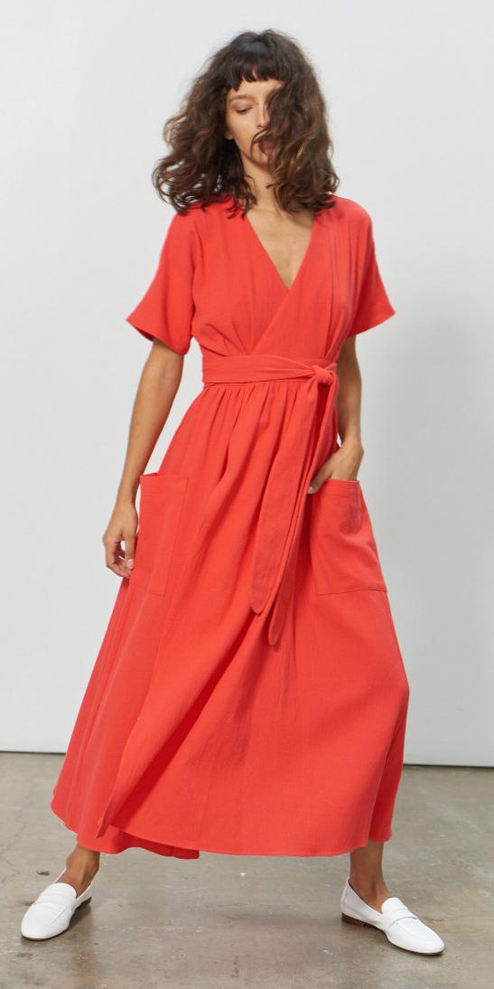 orange-dress-wrap-white-shoe-loafers-hairr-spring-summer-weekend.jpg