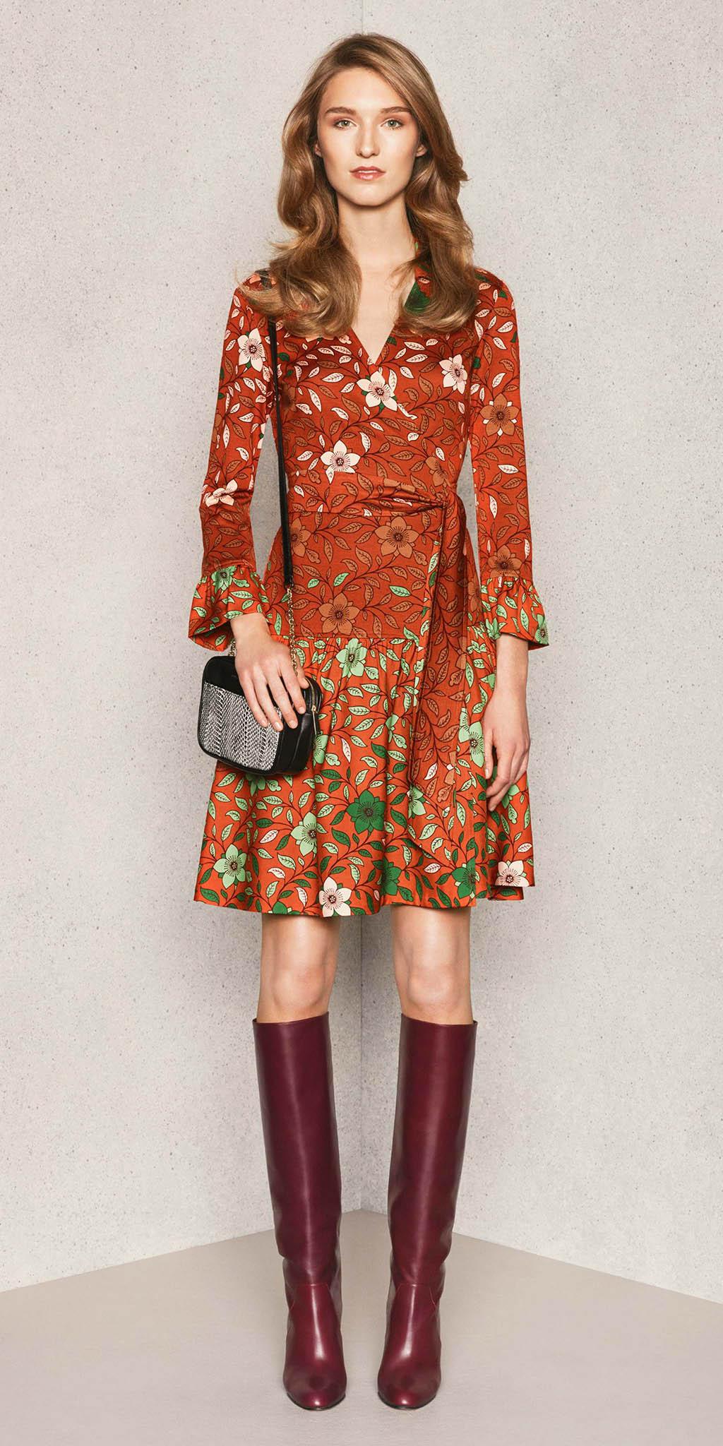 orange-dress-wrap-print-burgundy-shoe-boots-hairr-fall-winter-lunch.jpg