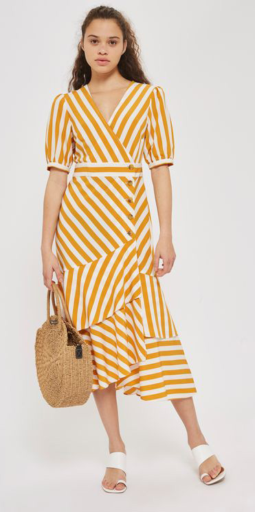 yellow-dress-midi-wrap-stripe-white-shoe-sandalh-tan-bag-hairr-spring-summer-weekend.jpg