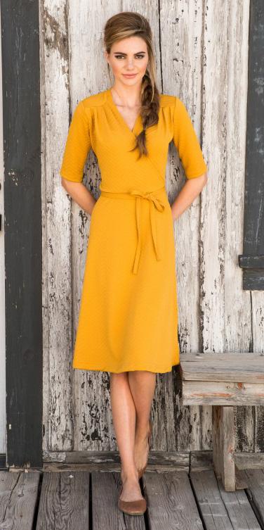 yellow-dress-wrap-blonde-braid-tan-shoe-flats-spring-summer-lunch.jpg
