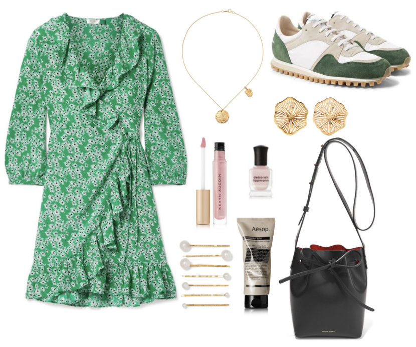 green-emerald-dress-wrap-print-green-shoe-sneakers-black-bag-studs-spring-summer-lunch.jpg