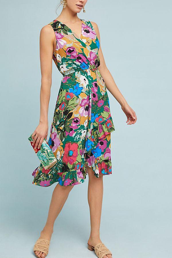 green-emerald-dress-wrap-floral-print-tan-shoe-sandals-spring-summer-lunch.jpg