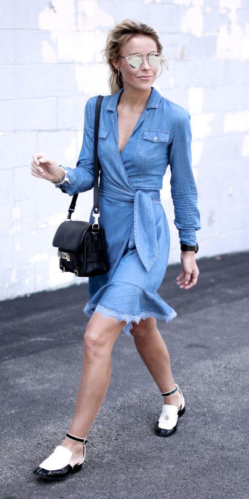 blue-light-dress-wrap-black-bag-white-shoe-flats-sun-blonde-pony-spring-summer-weekend.jpg