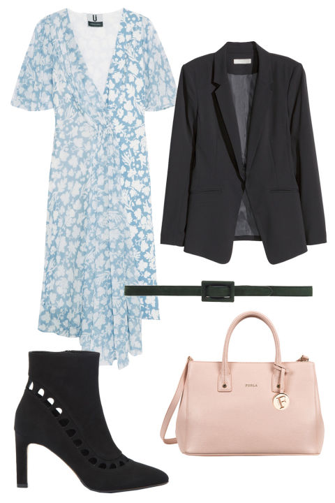 blue-light-dress-wrap-black-jacket-blazer-skinny-belt-pink-bag-black-shoe-booties-print-beltdress-aline-spring-summer-work.jpg