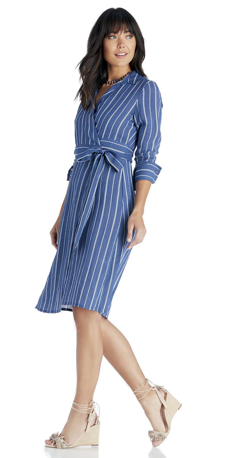blue-med-dress-shirt-wrap-vertical-stripe-necklace-tan-shoe-sandalw-hairr-spring-summer-work.jpg