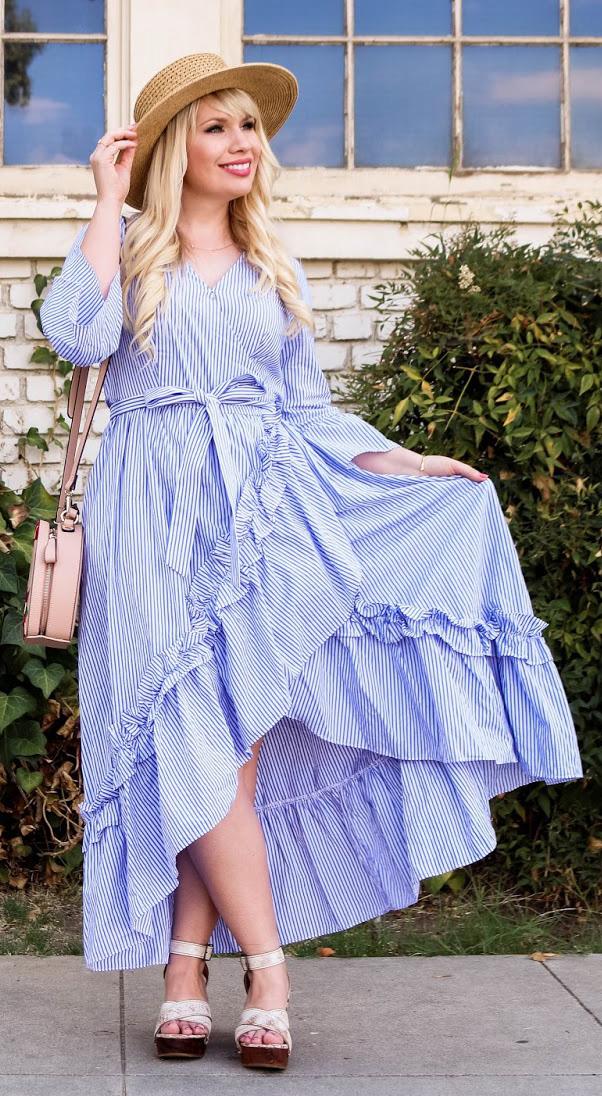 blue-med-dress-wrap-pink-bag-hat-straw-blonde-white-shoe-sandalw-spring-summer-lunch.jpg