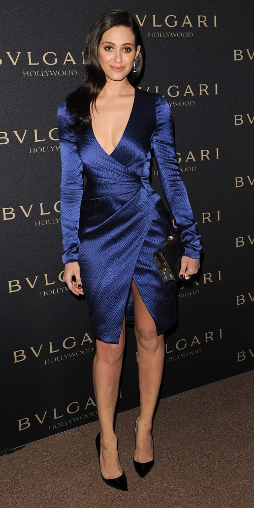 Navy blue wrap dresses | HOWTOWEAR Fashion