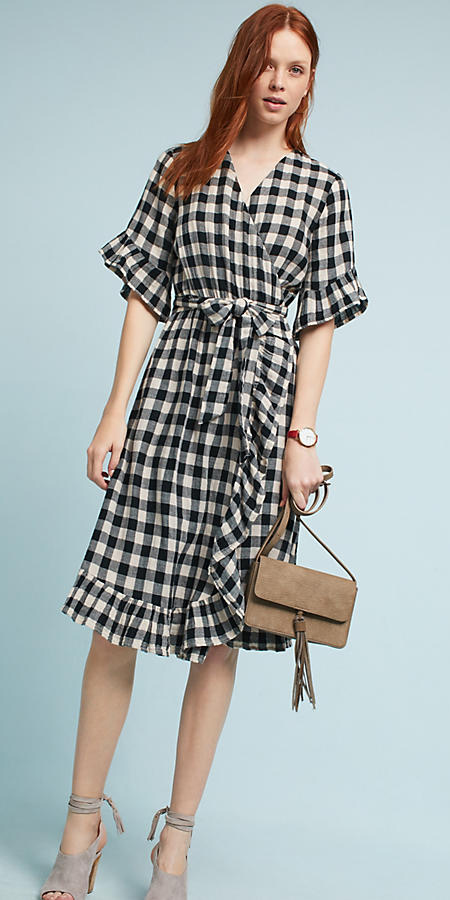 black-dress-wrap-gingham-print-tan-bag-tan-shoe-sandalh-hairr-spring-summer-lunch.jpg