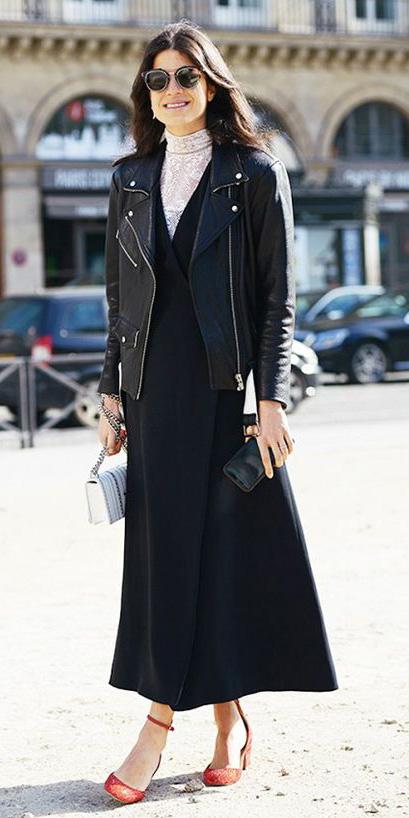 black-dress-maxi-wrap-white-top-layer-black-jacket-moto-brun-sun-red-shoe-pumps-fall-winter-dinner.jpg