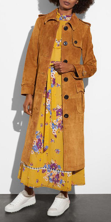 yellow-dress-maxi-floral-print-peasant-brun-white-shoe-sneakers-camel-jacket-coat-trench-fall-winter-lunch.jpg