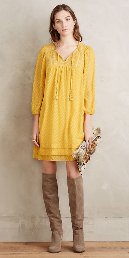 yellow-dress-peasant-tan-shoe-boots-hairr-fall-winter-lunch.jpg