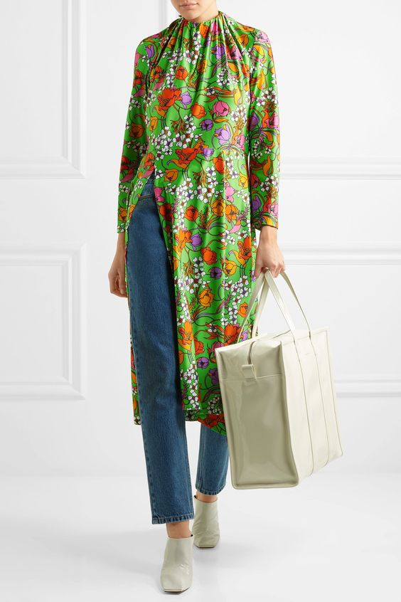 green-emerald-dress-print-floral-peasant-slit-layer-blue-med-skinny-jeans-white-bag-white-shoe-booties-fall-winter-lunch.jpg