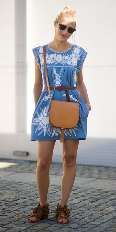 blue-med-dress-peasant-mini-belt-cognac-bag-cognac-shoe-sandals-blonde-sun-bun-spring-summer-weekend.jpg