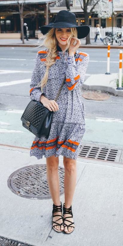 blue-med-dress-peasant-hat-braid-blonde-black-bag-black-shoe-sandals-spring-summer-lunch.jpg