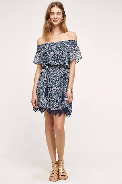 blue-med-dress-zprint-floral-tan-shoe-sandals-bracelet-peasant-print-wear-style-fashion-spring-summer-offshoulder-blonde-lunch.jpg