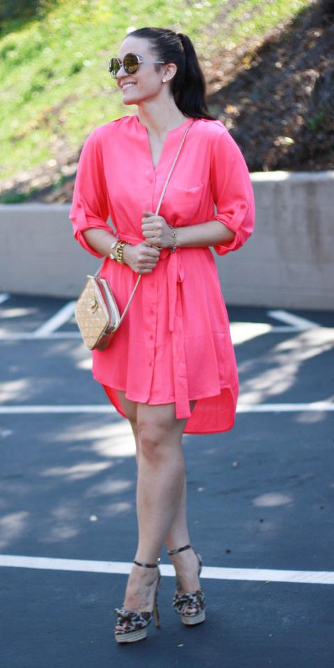 pink-magenta-dress-shirt-brown-shoe-sandalw-sun-pony-brun-spring-summer-dinner.jpg