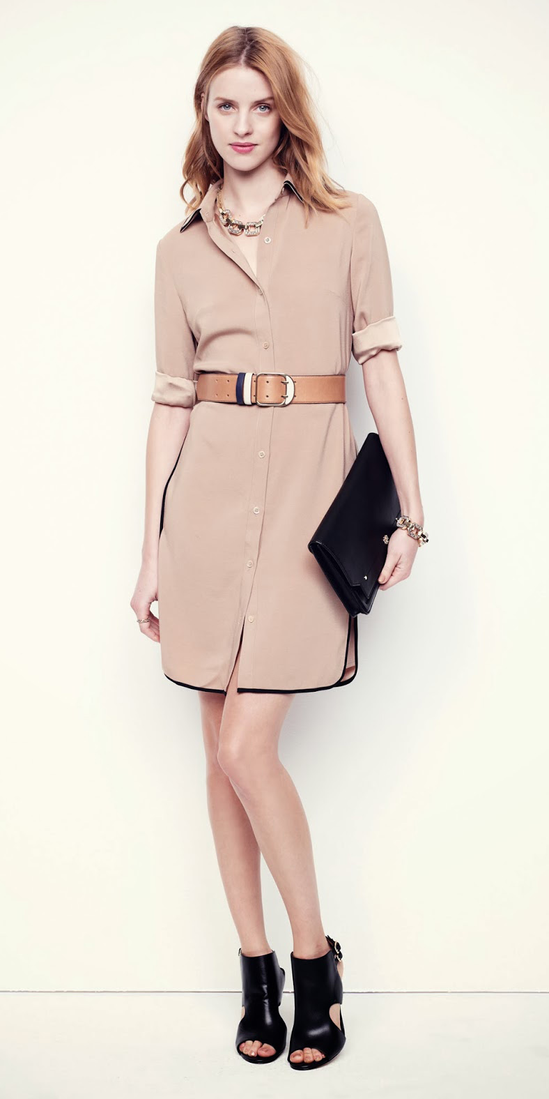 tan-dress-shirt-wide-belt-black-bag-clutch-black-shoe-sandalh-hairr-bib-necklace-spring-summer-work.jpg