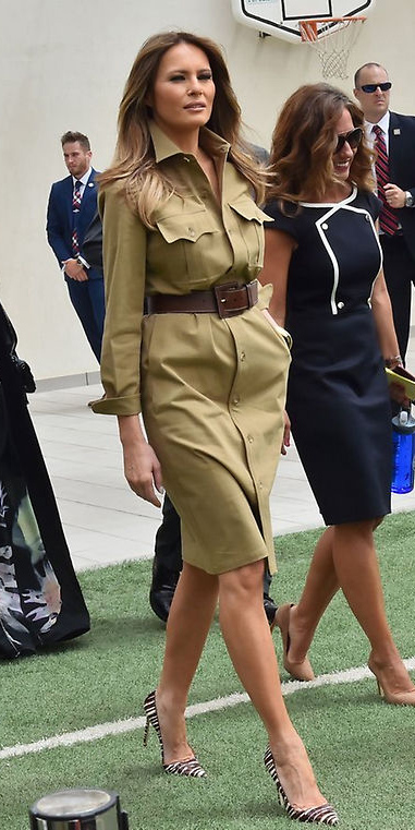 tan-dress-shirt-wide-belt-hairr-melaniatrump-brown-shoe-pumps-fall-winter-work.jpg