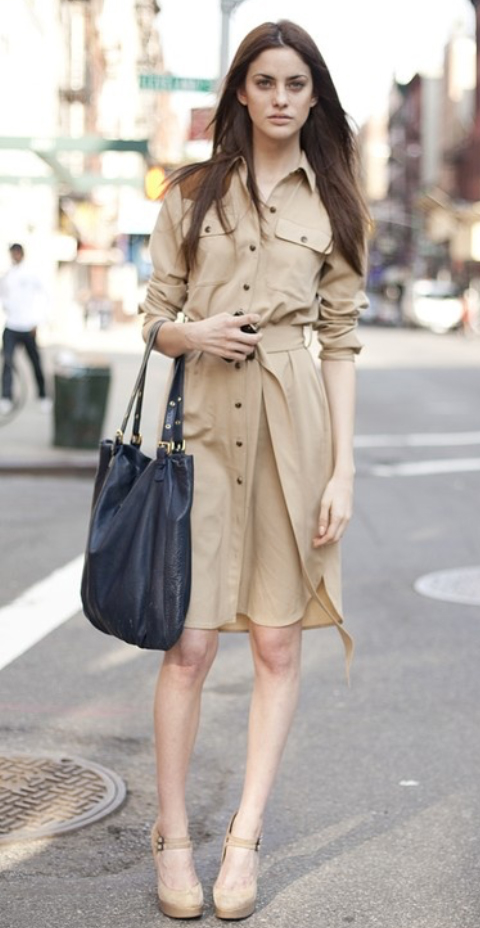 o-tan-dress-a-tan-shoe-pumps-black-bag-shirt-khaki-wear-style-fashion-spring-summer-office-safari-hairr-work.jpg