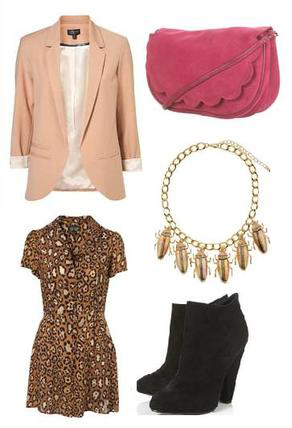 o-tan-dress-zprint-leopard-o-peach-jacket-blazer-necklace-pink-bag-black-shoe-booties-howtowear-fashion-style-outfit-spring-summer-shirt-dinner.jpg