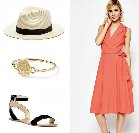 orange-dress-shirt-black-shoe-sandals-hat-panama-bracelet-blonde-spring-summer-weekend.jpg