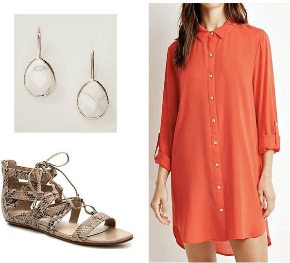 orange-dress-shirt-white-shoe-sandals-snakeskin-earrings-spring-summer-weekend.jpg