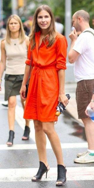 orange-dress-shirt-black-shoe-sandalh-hairr-spring-summer-dinner.jpg