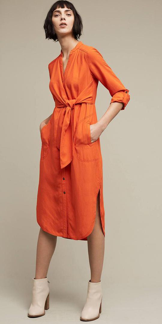 orange-dress-shirt-brun-bob-white-shoe-booties-fall-winter-lunch.jpg