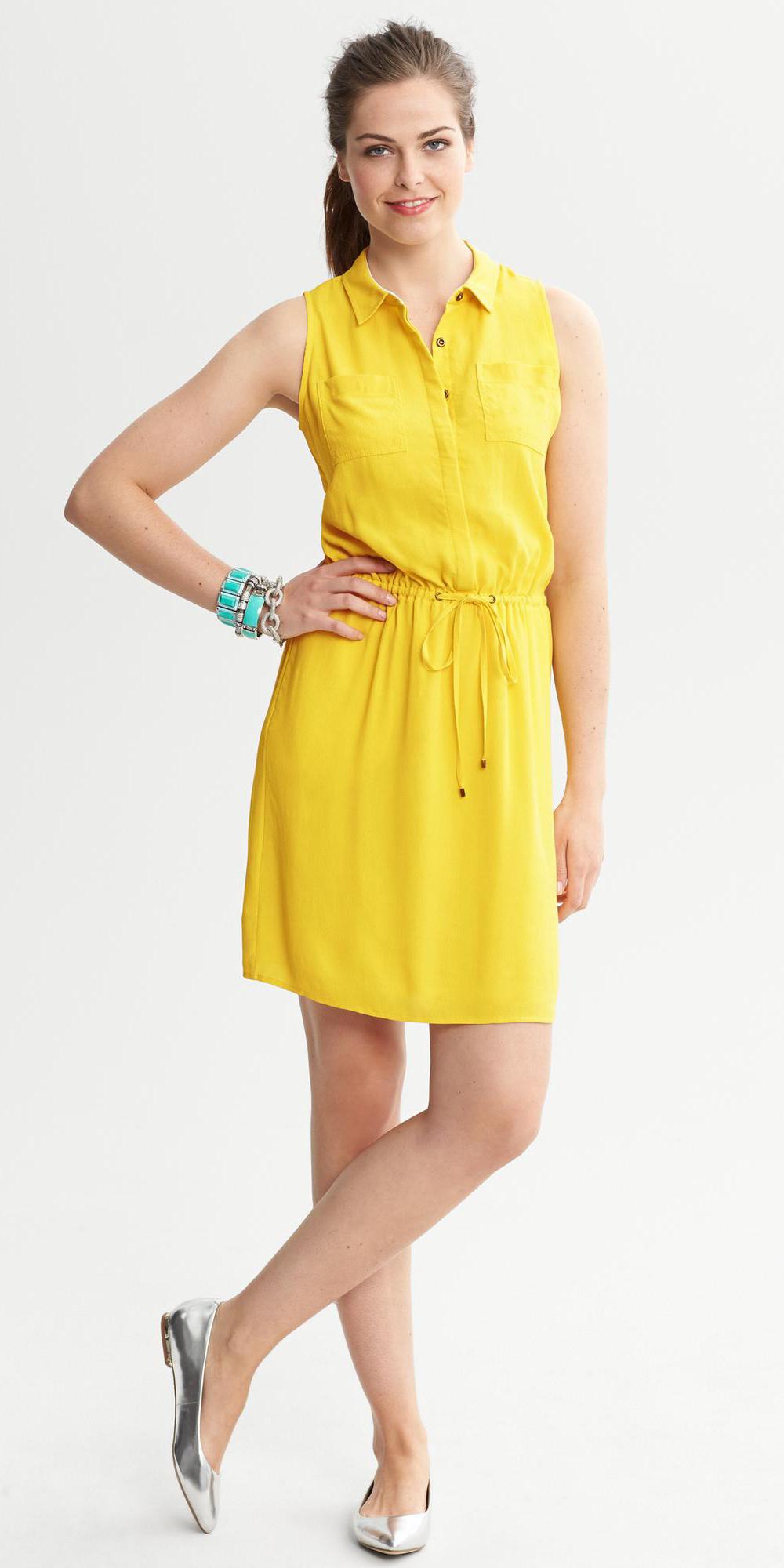 yellow-dress-a-gray-shoe-flats-bracelet-turquoise-pony-shirt-wear-style-fashion-spring-summer-hairr-lunch.jpeg