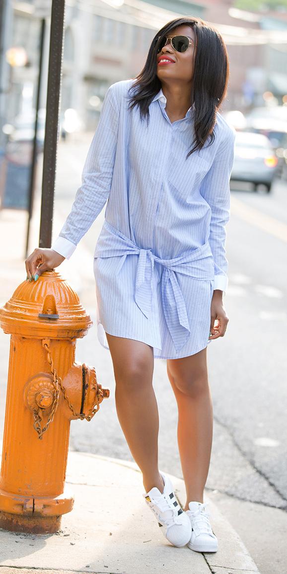 blue dress sneakers