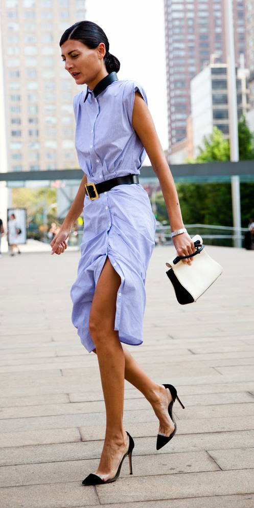 Light blue shirt dresses | HOWTOWEAR