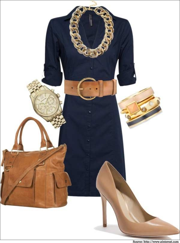 blue-navy-dress-shirt-chain-necklace-tan-shoe-pumps-wide-belt-watch-cognac-bag-howtowear-fashion-style-outfit-spring-summer-work.jpg