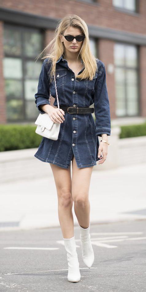 blue-navy-dress-shirt-denim-belt-sun-blonde-white-bag-white-shoe-booties-fall-winter-lunch.jpg