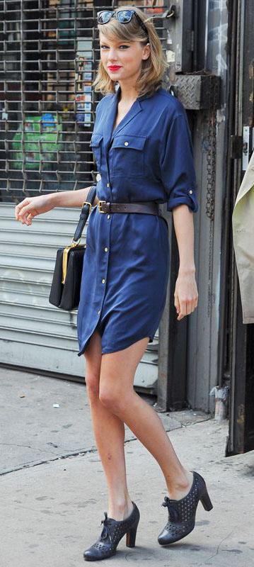 blue-navy-dress-a-black-shoe-booties-black-bag-sun-shirt-wear-style-fashion-spring-summer-belt-taylorswift-celebrity-blonde-work.jpg