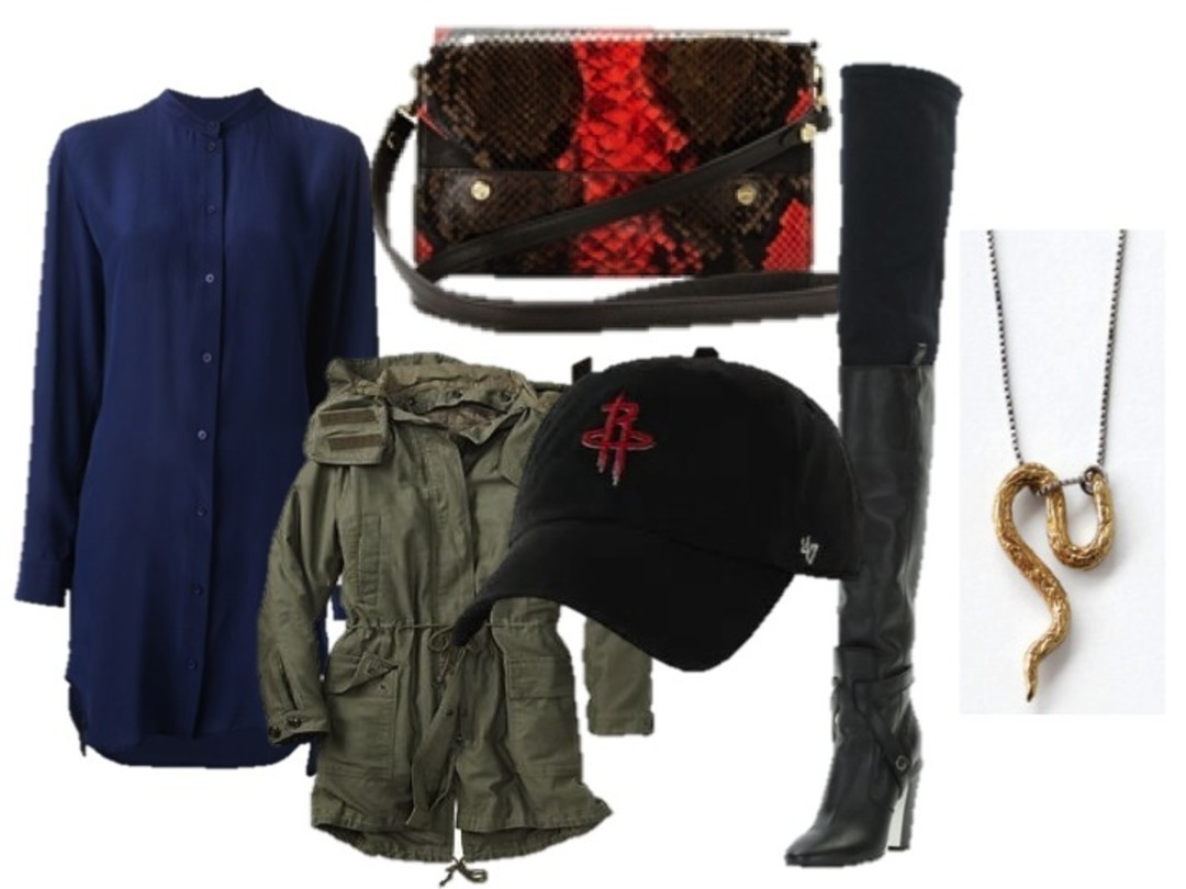 blue-navy-dress-shirt-hat-cap-red-bag-otk-black-shoe-boots-green-olive-jacket-utility-necklace-pend-fall-winter-lunch.jpg