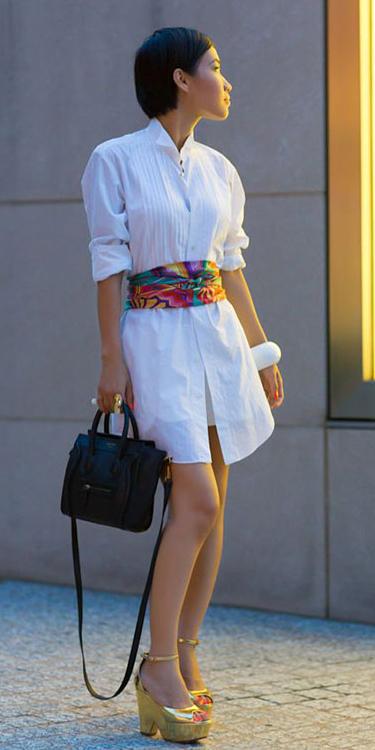white-dress-tan-shoe-sandalw-black-bag-wide-belt-shirt-wear-style-fashion-spring-summer-scarfasbelt-brunette-lunch.jpg