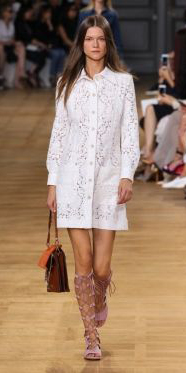 white-dress-tan-shoe-sandals-cognac-bag-shirt-wear-style-fashion-spring-summer-gladiators-runway-hairr-lunch.jpg
