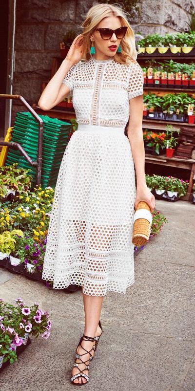 white-dress-shirt-midi-earrings-blonde-sun-black-shoe-sandalh-tan-bag-clutch-straw-spring-summer-dinner.jpg