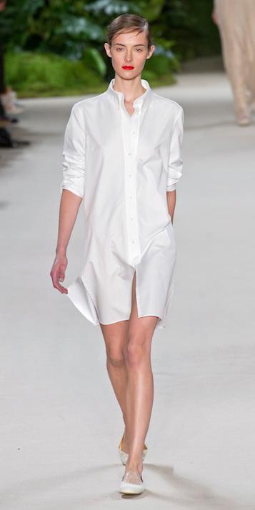 white-dress-white-shoe-flats-bun-shirt-wear-style-fashion-spring-summer-runway-blonde-work.jpg