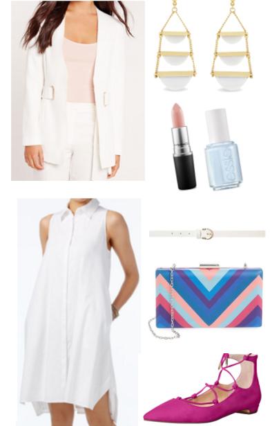 white-dress-white-jacket-blazer-pink-magenta-shoe-flats-blue-bag-howtowear-fashion-style-outfit-spring-summer-shirt-earrings-work.jpg