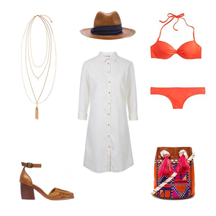 white-dress-shirt-hat-panama-necklace-swimsuit-cognac-bag-cognac-shoe-pumps-spring-summer-lunch.jpg