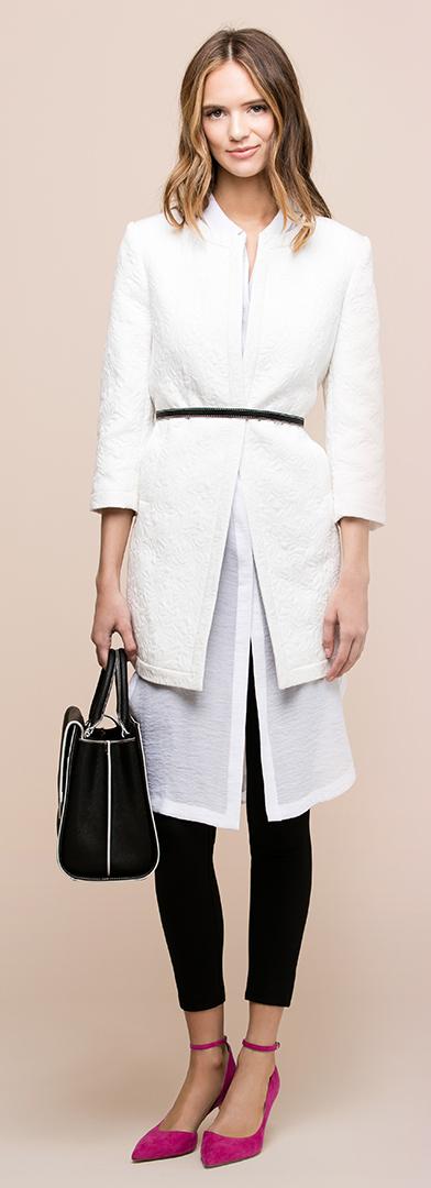 white-dress-white-jacket-blazer-black-leggings-pants-black-bag-pink-magenta-shoes-pumps-shirt-wear-style-fashion-spring-summer-skinny-belt-office-outfit-hairr-work.jpg