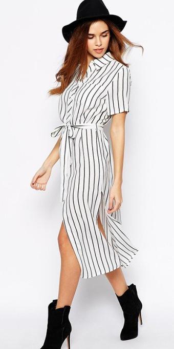white-dress-zprint-stripe-black-shoe-booties-hat-shirt-midi-wear-style-fashion-spring-summer-hairr-lunch.jpg