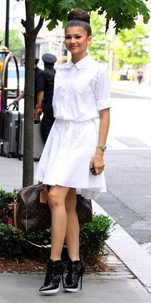 white-dress-a-black-shoe-booties-bun-shirt-wear-style-fashion-spring-summer-zendaya-brunette-dinner.jpg