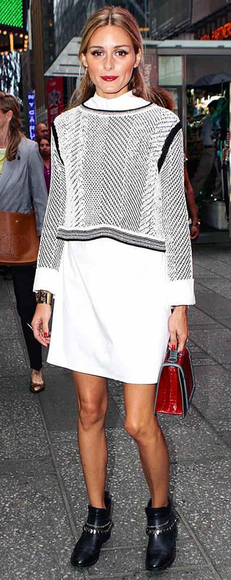 white-dress-white-sweater-black-shoe-booties-red-bag-bracelet-cuff-shirt-wear-style-fashion-fall-winter-oliviapalermo-celebrity-hairr-lunch.jpg