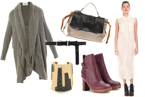 white-dress-grayl-cardiganl-burgundy-shoe-booties-bracelet-skinny-belt-shirt-gray-bag-howtowear-fashion-style-outfit-fall-winter-lunch.jpg